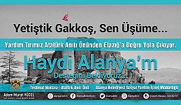 """Alanya'da yardım kampanyası: """"Yetiştik Gakkoş, sen üşüme"""""""