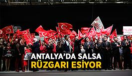 Antalya'da Salsa rüzgarı esiyor