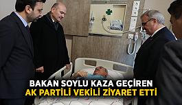 Bakan Soylu, kaza geçiren AK Partili vekili ziyaret etti