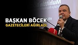 Başkan Böcek, gazetecileri ağırladı