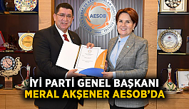 İYİ Parti Genel Başkanı Meral Akşener AESOB'da
