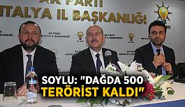 """Soylu: """"Dağda 500 terörist kaldı"""""""