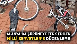 Alanya'da çürümeye terk edilen bisikletlere düzenleme geliyor