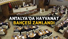 Antalya'da hayvanat bahçesi zamlandı