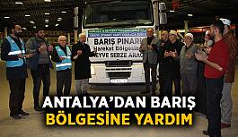 Antalya'dan Barış Bölgesine yardım