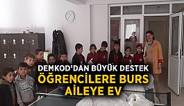 DEMKOD'dan büyük destek: Öğrencilere burs, aileye ev