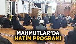 Mahmutlar'da hatim programı