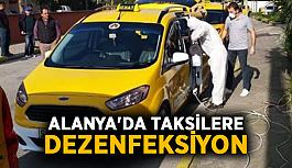Alanya'da taksilere dezenfeksiyon