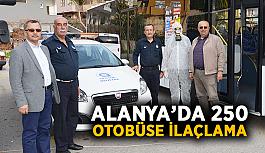 Alanya'da 250 otobüse ilaçlama
