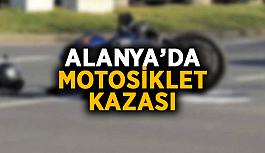 Alanya'da motosiklet kazası