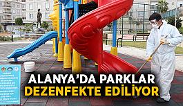 Alanya'da parklar dezenfekte ediliyor