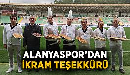 Alanyaspor'dan ikram teşekkürü