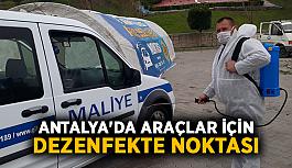 Antalya'da araçlar için dezenfekte noktası