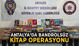 Antalya'da bandrolsüz kitap operasyonu