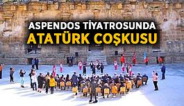 Aspendos Tiyatrosunda Atatürk coşkusu