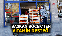 Başkan Böcek'ten vitamin desteği
