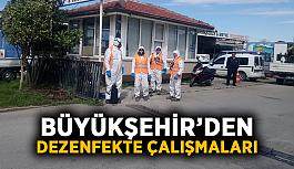 Büyükşehir'den dezenfekte çalışmaları