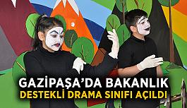 Gazipaşa'da bakanlık destekli drama sınıfı açıldı