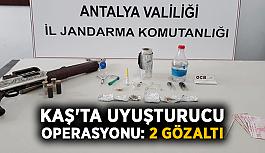 Kaş'ta uyuşturucu operasyonu: 2 gözaltı