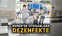 Kemer'de dezenfekte çalışmaları