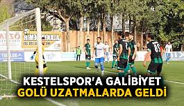 Kestelspor'a galibiyet golü uzatmalarda geldi