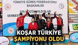 Koşar Türkiye Şampiyonu oldu