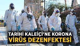 Tarihi Kaleiçi'ne korona virüs dezenfektesi