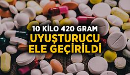 10 kilo 420 gram uyuşturucu ele geçirildi