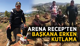 Arena Recep'ten başkana erken kutlama