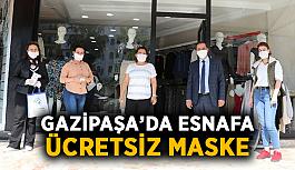 Gazipaşa'da esnafa ücretsiz maske
