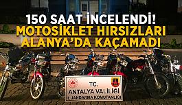 150 saat incelendi! Motosiklet hırsızları Alanya'da jandarmadan kaçamadı
