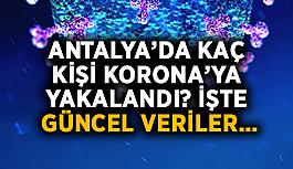 Antalya'da kaç kişi korona'ya yakalandı? İşte güncel veriler…
