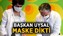 Başkan Uysal maske dikti
