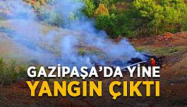 Gazipaşa'da yine yangın çıktı