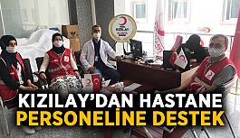 Kızılay'dan hastane personeline destek