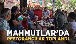 Mahmutlar'da restorancılar toplandı