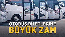Otobüs biletlerine büyük zam