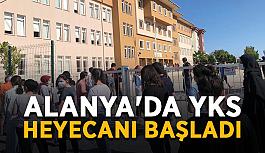 Alanya'da YKS heyecanı başladı