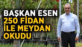 Başkan Esen 250 fidan ile meydan okudu