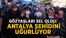 Gözyaşları sel oldu: Antalya şehidini uğurluyor