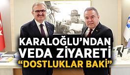 """Karaloğlu'ndan veda ziyareti: """"Dostluklar baki"""""""