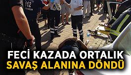 Ortalık savaş alanına döndü! Feci kazada 7 kişi yaralandı