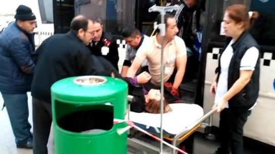 Bayılan hastayı tereddüt etmeden Devlet hastanesine yetiştiren şoför