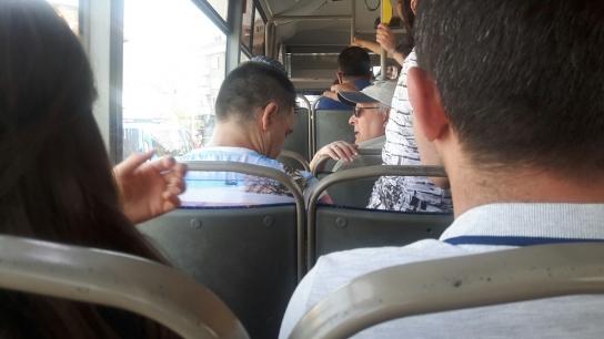 Mahmutlar otobüsünde panik anları