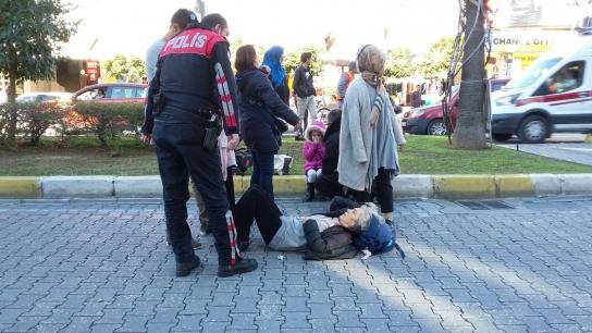 Alanya'da araç yayaya çarptı: 1 yaralı