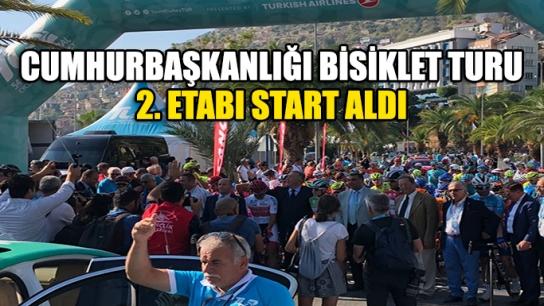 54.Cumhurbaşkanlığı Bisiklet Turu 2. Etabı start aldı