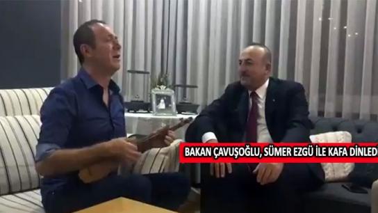 Bakan Çavuşoğlu, Sümer Ezgü ile kafa dinledi