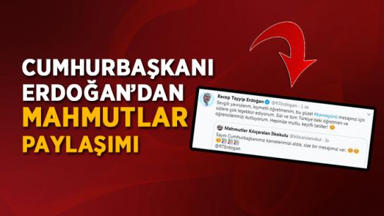 Cumhurbaşkanı Erdoğan'dan Mahmutlar paylaşımı