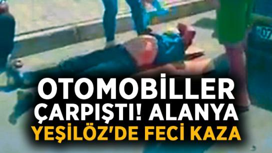 Otomobiller çarpıştı! Alanya Yeşilöz'de feci kaza
