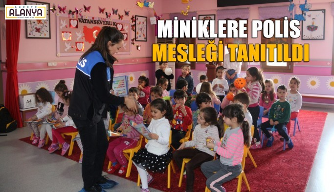 Alanya polisinden anaokulu ziyareti